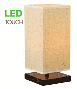 "Revel Lucerna 13"" TOUCH Bedside Table Lamp + 4W LED Bulb (40W eq.)"