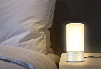 LUWATT Table Lamp, Touch Sensor Bedside Lamp + Dimmable Warm White Light