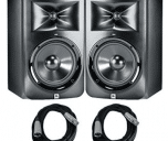JBL LSR-308 Studio Monitors with Cables Bundle