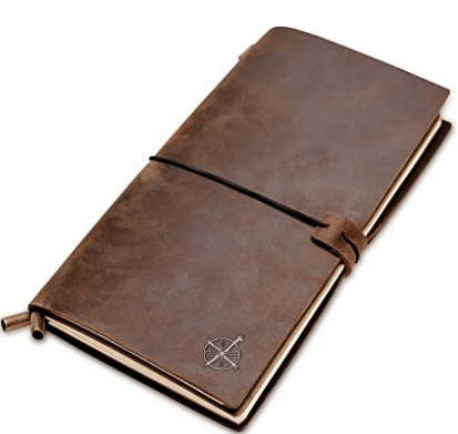 Wanderings Leather Notebook Journal | Leather Bound, Refillable | Perfect for Writing