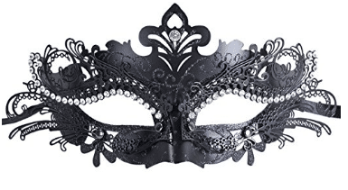 Masquerade Mask Shiny Metal Rhinestone Venetian Pretty Party Evening Prom Mask, Masquerade Masks for Women