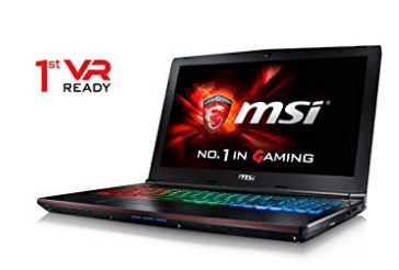 CUK MSI GE62VR Apache Pro VR Ready Laptop (i7-7700HQ, 16GB RAM