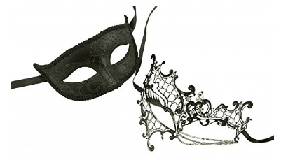 KAYSO INC Original Lover's Collection - Couple's Masquerade Mask Set