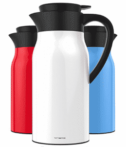 Vremi 51 oz Coffee Carafe - 1.5 liter Tea Thermos Large Travel Bottle Stainless Steel Vacuum
