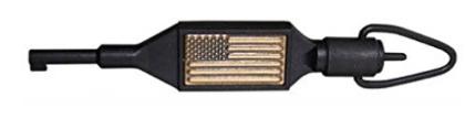 ZAK Tool ZT-100 Swivel Key with USA Flag