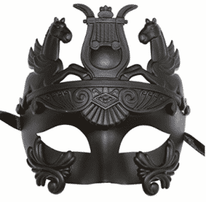 Masculine Greek & Roman Soldier Men Venetian Masquerade Mask