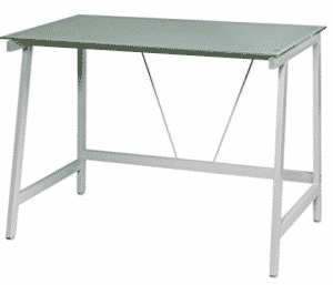 OneSpace 50-HD0107 Contemporary Glass Writing Desk, Steel Frame