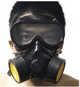 Vktech Industrial Gas Chemical Anti-Dust Respirator Mask Goggles Set