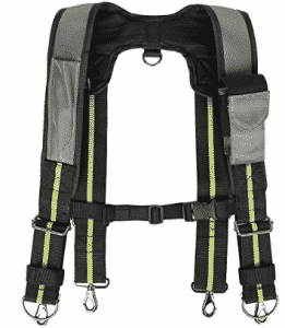 Padded Tool Belt Suspenders w/ Phone Pocket