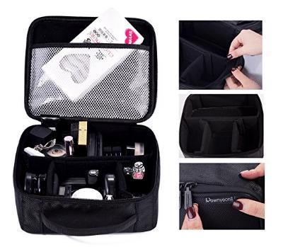 ROWNYEON Portable Travel Makeup Bag Makeup Case Mini Makeup Train Case 9.8''