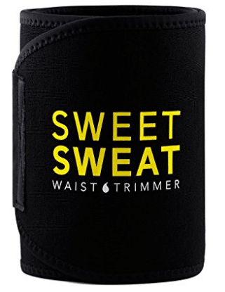 Sweet Sweat Premium Waist Trimmer, for Men & Women. Includes Free Sample of Sweet Sweat Gel