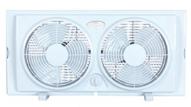 Optimus F-5280 7-Inch Twin 2-Speed Window Fan