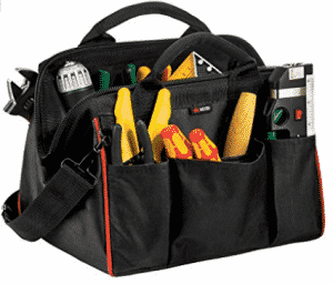 NoCry Tough As Nails Tool Bag, 12 Inches, Heavy-Duty 600D Canvas