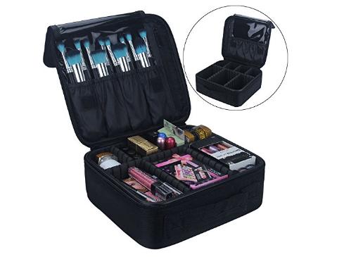 Travel Makeup Train Case Samtour Makeup Cosmetic Case Organizer Portable Artist Storage Bag 10.3''