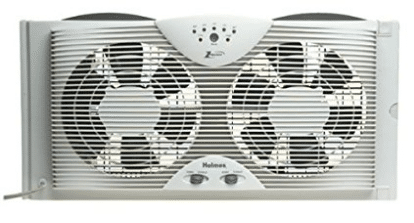 Holmes HAWF2043 Dual Blade Twin Window fan with One Touch Thermostat