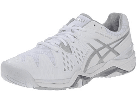 Asics Gel Resolution 6 WIDE Women's Tennis Shoe White/Silver