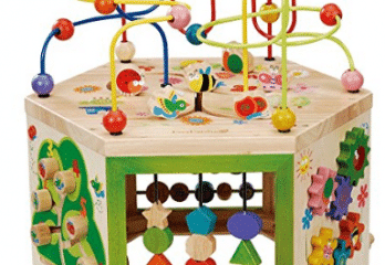 EverEarth Garden Activity Cube. Wood Shape & Color Sorter