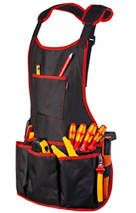 NoCry Professional Canvas Work Apron with 16 Tool Pockets