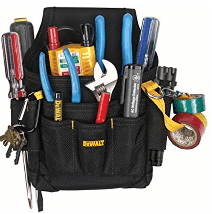 DEWALT DG5103 Small Durable Maintenance and Electrician's Pouch with Pockets for Tools