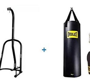 Everlast Single-Station Heavy Bag Stand and 100lb Heavy Bag Kit Value Bundle