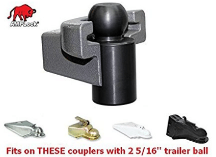 AMPLOCK U-BRP2516 RV/trailer coupler lock (fits 2 5/16 inches coupler)