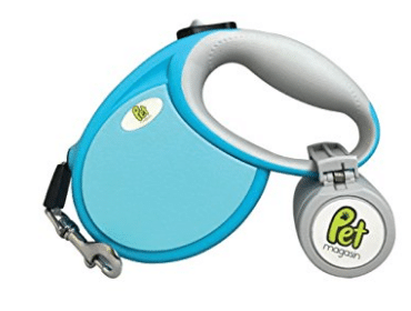 Retractable Dog Leash with Poop Bag Holder