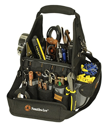 Southwire Tools & Equipment BAGTOTE8 8-Inch Electrician's Tool Tote Carrier