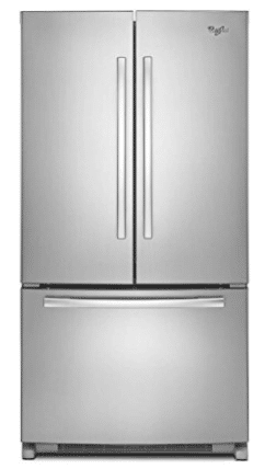 Whirlpool WRF540CWBM 19.6 Cu. Ft. Stainless Steel Counter Depth French Door Refrigerator