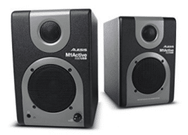 Alesis M1 Active 320 USB | Full-Range Studio Monitor Desktop Speakers with Bass Boost