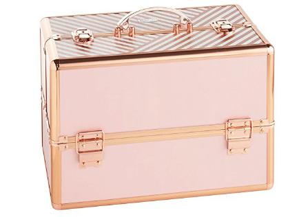"Beautify Large Makeup Cosmetic Organizer Train Case 14"""