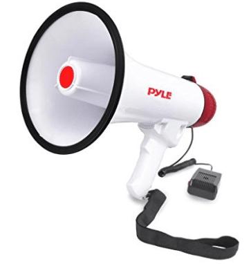 Pyle Megaphone Speaker PA Bullhorn W Built-in Siren