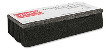 Sparco SPR1 Chalkboard Eraser, All-Felt, Dustless