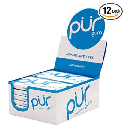 PUR Gum Aspartame Free Peppermint
