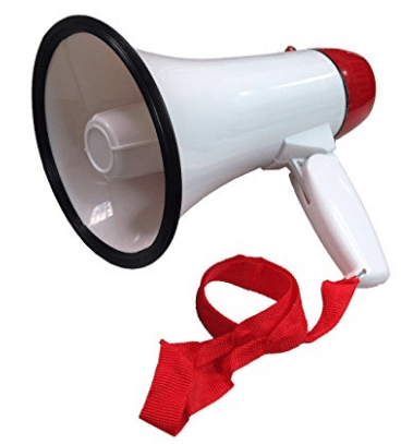 Portable Megaphone 20 Watt Power Megaphone Speaker Bullhorn Voice