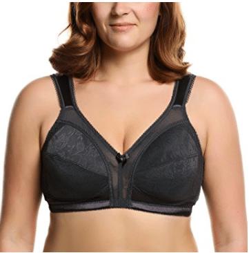 Ekouaer Women's Comfort Wirefree Minimizer Bra Plus Size 36D-44H
