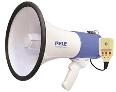 Baseball Ideal for Football Coaches Cheerleading Fans 5 Core Megaphones Speaker PA Bullhorn with Siren//Loudhailer Basketball Soccer