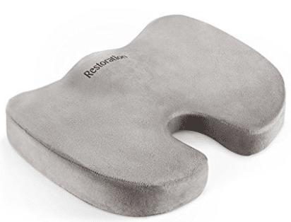 Comfy Cure Coccyx Memory Foam Seat Cushion