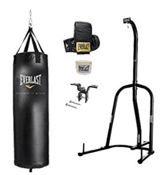 Everlast Single Station Heavy Bag Stand with a Heavy Bag Kit