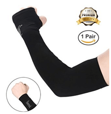 Shinymod UV Protection Cooling or Warmer Arm Sleeves for Men Women Kids