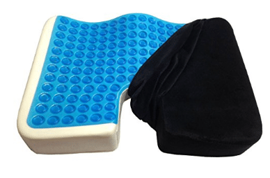 Kieba Coccyx Seat Cushion, Cool Gel Memory Foam Large Orthopedic Tailbone Pillow for Sciatica