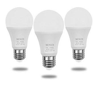 MINGER Sensor Lights Bulb, 7W Smart Automatic Dusk to Dawn LED Bulbs