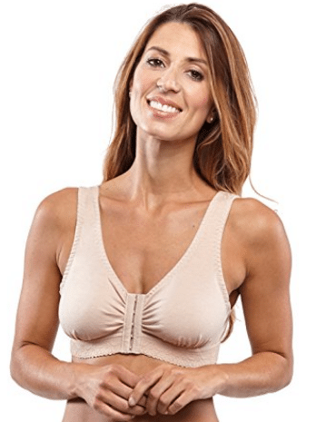 Carole Martin Women's Full-Freedom Front Closure Cotton Bra