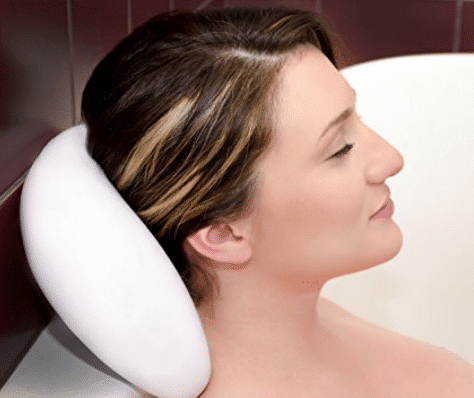 De La Mar Washable and Waterproof Bath Pillow with Suction Cups