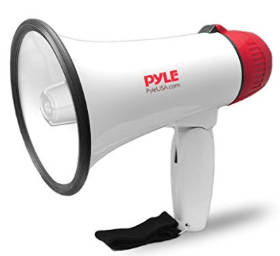 Pyle Megaphone Speaker PA Bullhorn with Built-in Siren