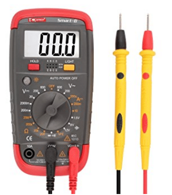 DMiotech Digital Multimeter Battery Tester Battery Load Test Resistance Continuity Diode AC / DC