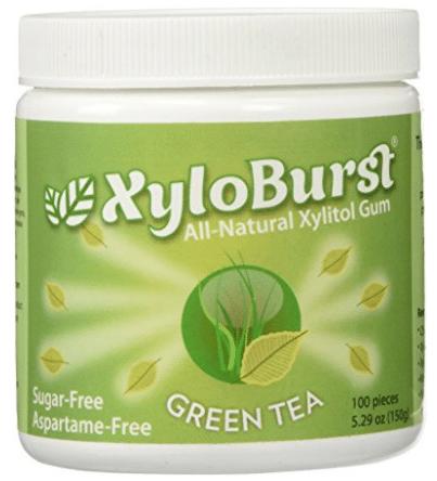XyloBurst Gum Jar Green Tea 100 count