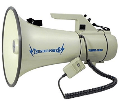 Extra Loud, Heavy Duty Megaphone - ThunderPower 1200