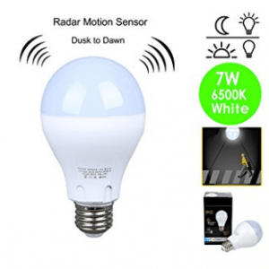 Motion Sensor Light Bulb 7W