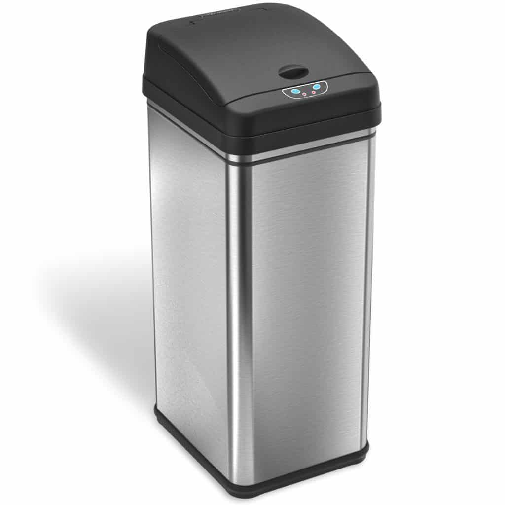 iTouchless 13 Gallon Stainless Steel Automatic Trash Can with Odor Control System