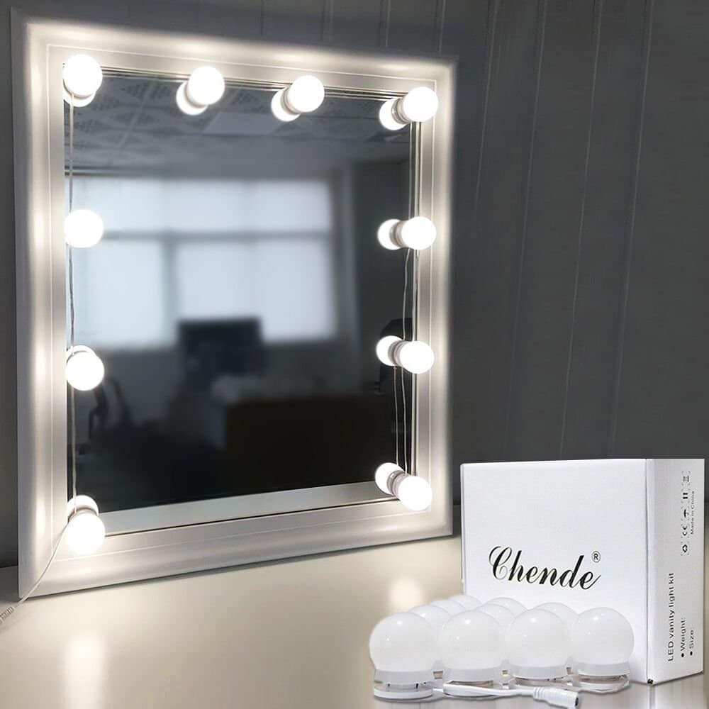 Chende Hollywood Style LED Vanity Mirror Lights Kit